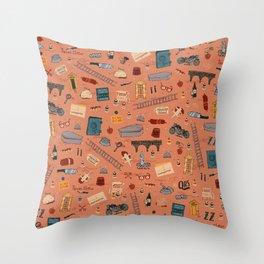 Budapest Hotel Plot Pattern Throw Pillow