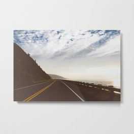 Roadtrip Route Metal Print