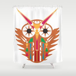 Organic Owl Shower Curtain