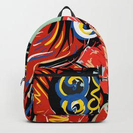 Hang on to Your Love  Red Portrait Backpack