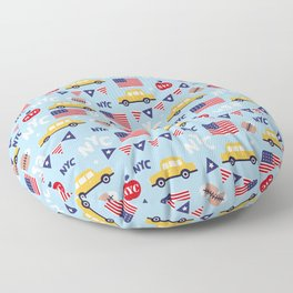 Made in the USA New York City icons pattern Floor Pillow