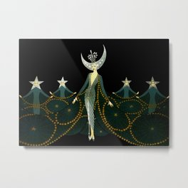 "Art Deco Design ""Queen of the Night"" by Erté Metal Print"