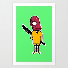 Bic Head Art Print
