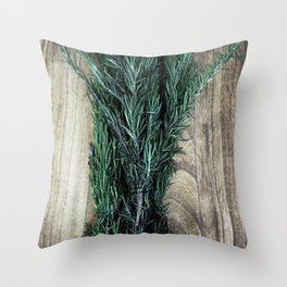 Hierbas Aromáticas Throw Pillow