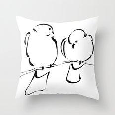 Bird Couple Throw Pillow