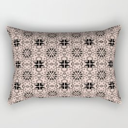 Pale Dogwood Star Geometric Rectangular Pillow