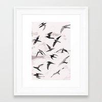 flight Framed Art Prints featuring Flight by Georgiana Paraschiv