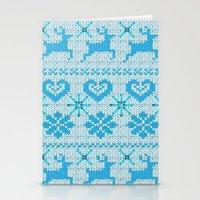 scandinavian Stationery Cards featuring Scandinavian Knitting by Vannina