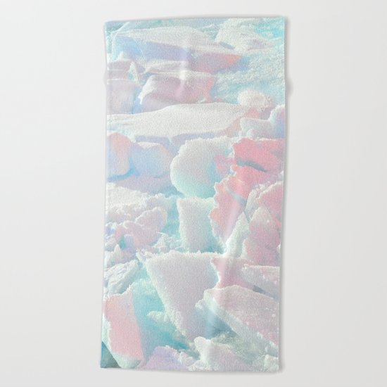 Broken Ice Pastel Texture Beach Towel