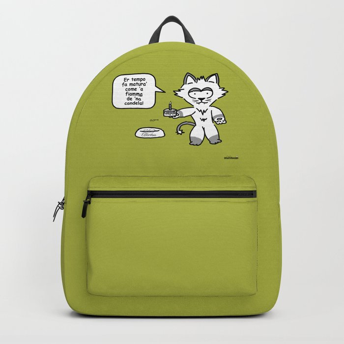the wise cat - time Backpack