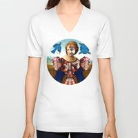 madonna V-neck T-shirts featuring Madonna by DIVIDUS