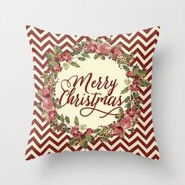 Vintage Christmas Throw Pillow