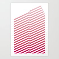 bands Art Prints featuring Red Bands by blacknote