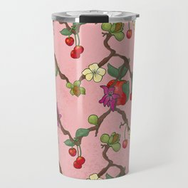 Cherries and Vine Travel Mug