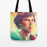 study Tote Bags featuring A Study in Neon by Alice X. Zhang