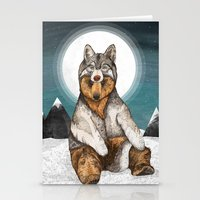 Stationery Cards featuring Wear Wolf by Sandra Dieckmann