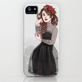 Black lace iPhone Case
