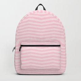 Light Soft Pastel Pink Chevron Stripes Backpack