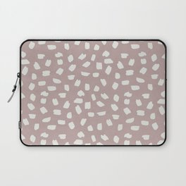 Simply Ink Splotch Lunar Gray on Clay Pink Laptop Sleeve