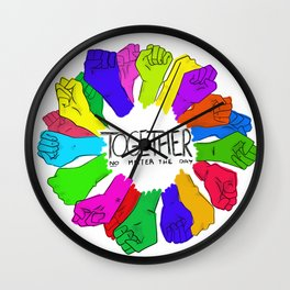 Together no matter the day Wall Clock