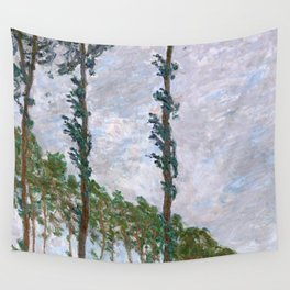 1891-Claude Monet-Wind Effect, Series of The Poplars-74 x 105-65 x 100 Wall Tapestry