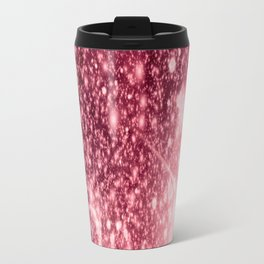 Pink Sparkle Galaxy Africa Travel Mug