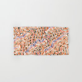 red topography Hand & Bath Towel