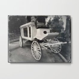 Haunted Mansion Hearse by Topher Adam 2017 Metal Print