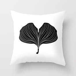 The blessing of ginkgo Throw Pillow