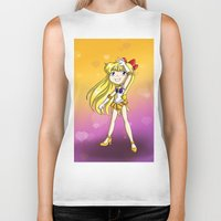 sailor venus Biker Tanks featuring Sailor Venus by Thedustyphoenix