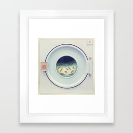 Tumbling goldfish Framed Art Print