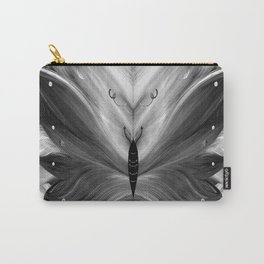 Butterfly black and white Carry-All Pouch