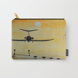 Yellow last flight Carry-All Pouch