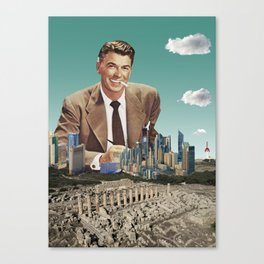 what a view! - Speculation vs culture Canvas Print