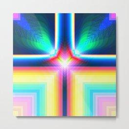 Digital Rainbow Metal Print