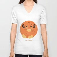 simba V-neck T-shirts featuring Heir to the throne by eqbal