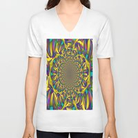 mirror V-neck T-shirts featuring Mirror by LoRo  Art & Pictures