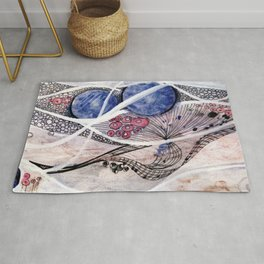 Space Planet Star Abstraction Rug