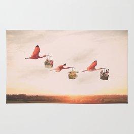 Dreaming of Floral Bird Deliveries Rug