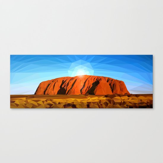 Uluru the Mighty Dreamer - Ayers Rock, Outback - Australia Canvas Print