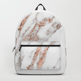 Rose gold foil marble Backpack
