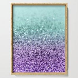 Mermaid Girls Glitter #9 #shiny #decor #art #society6 Serving Tray