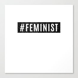 Hashtag Feminist Grunge Canvas Print