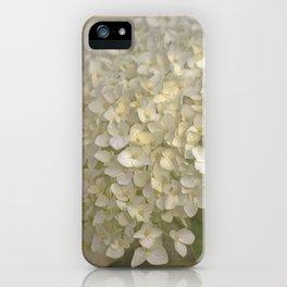 White Hydrangea iPhone Case