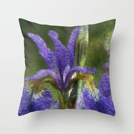 Siberian Iris Throw Pillow