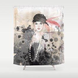 FASHION ILLUSTRATION 12 Shower Curtain