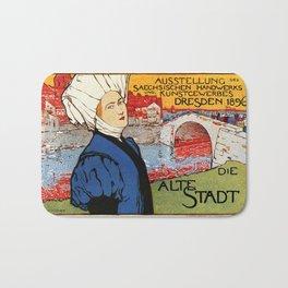 German artisanal art expo Dresden 1896 Bath Mat