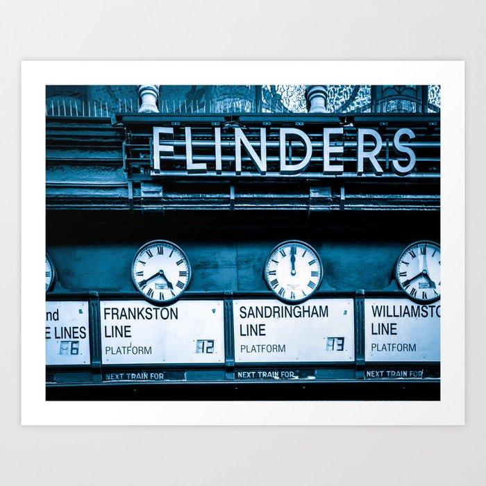 Flinders Street Station Fine Art Print Art Print