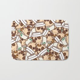 Puglie Pugkin Spice Latte Bath Mat
