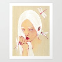 flawless Art Prints featuring Flawless by The White Deer
